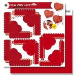 3 Red Heart Boxes    per vel