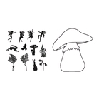 Toadstool outline stamp + Mask set    per set