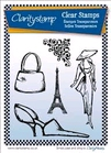 Sketchy Paris Fashion Stamps + Masks    per set