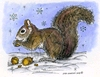 Nora's Winter Squirrel   per stuk