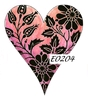 Damask Heart 4   per stuk