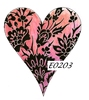 Damask Heart 3   per stuk