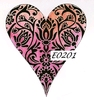 Damask Heart 1   per stuk