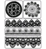 Clear Stamp 6-Lace & Doily   per vel