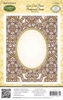 Lace Oval Background Stamp   per stuk