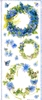 Big Sticker: Blue Wreaths / Blauwe Kransen   per vel
