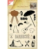Barbeque stempel set + stans   per set